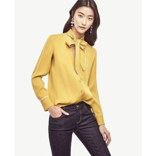 ann-taylor-yellow-blouse