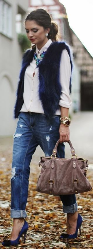 white-shirt-fur-vest
